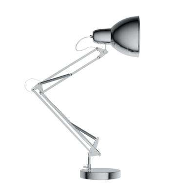 36 in. Metal Chrome LED Architect Desk Lamp with Adjustable Swing Arm
