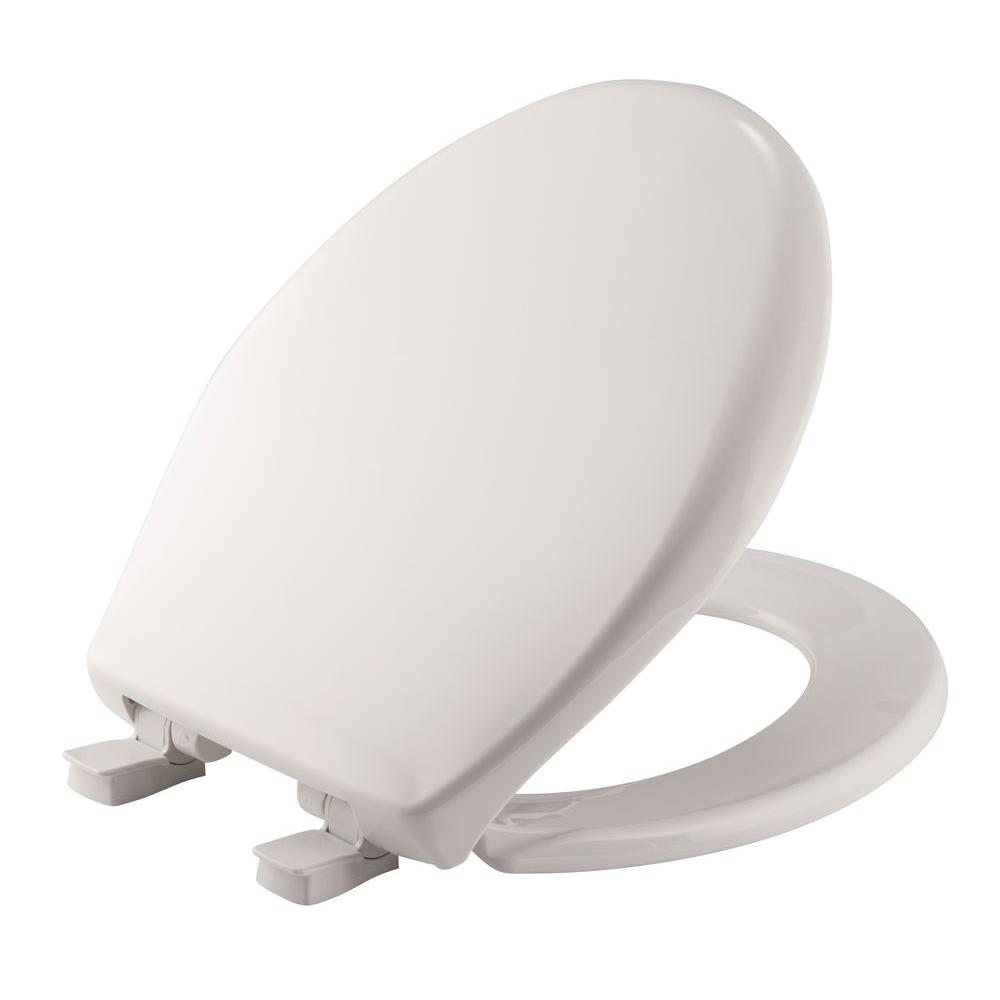 Affinity Round Closed Front Toilet Seat in Cotton White