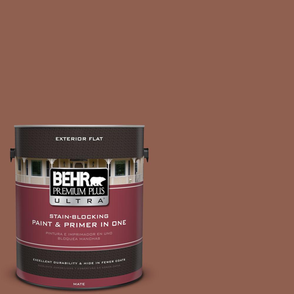 1-gal. #210F-7 Brown Thrush Flat Exterior Paint