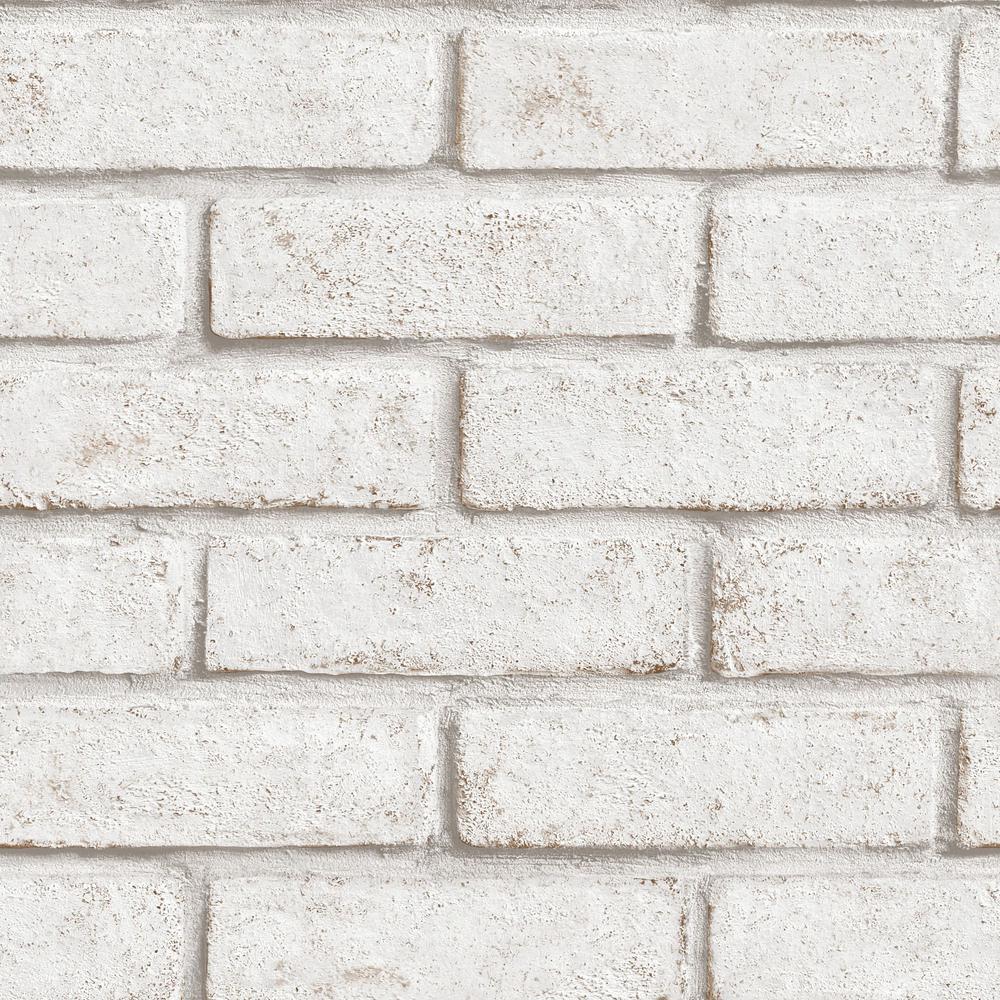 Strata Brick White/Red Removable Wallpaper