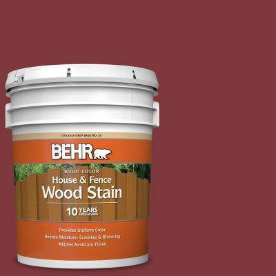 5 Gal Sc 112 Barn Red Solid Color House And Fence Exterior Wood Stain