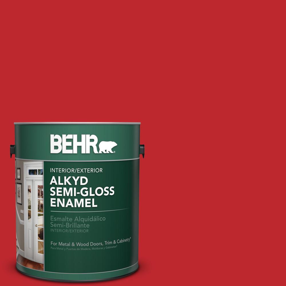 1 gal. #P150-7 Flirt Alert Semi-Gloss Enamel Alkyd Interior/Exterior Paint