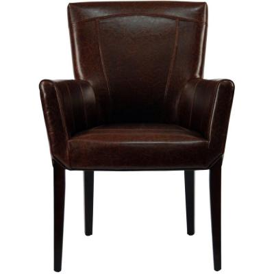 Ken Brown Leather Arm Chair