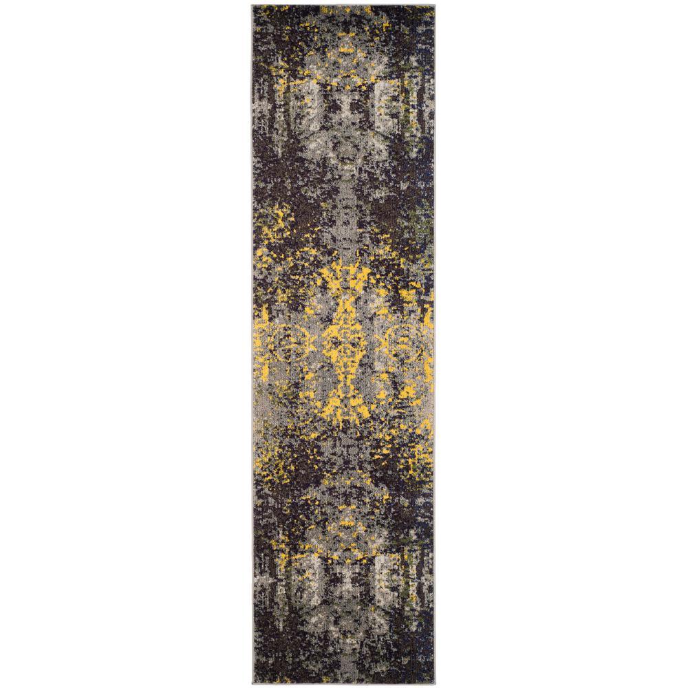 Monaco Gray/Multi 2 ft. x 6 ft. Runner Rug
