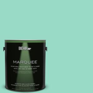 1-gal. #MQ4-17 Pageant Green Semi-Gloss Enamel Exterior Paint