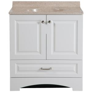Custom Bathroom Vanity Tops Home Depot glacier bay modular 30.5 in. w bath vanity in white with solid