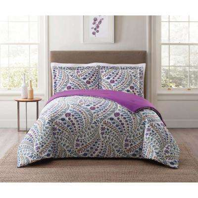 Nealy Floral Multi Full and Queen Comforter Set
