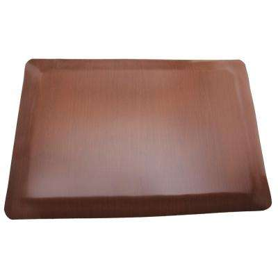Soft Woods Walnut 36 in. x 60 in. Vinyl Indoor Anti Fatigue Floor Mat