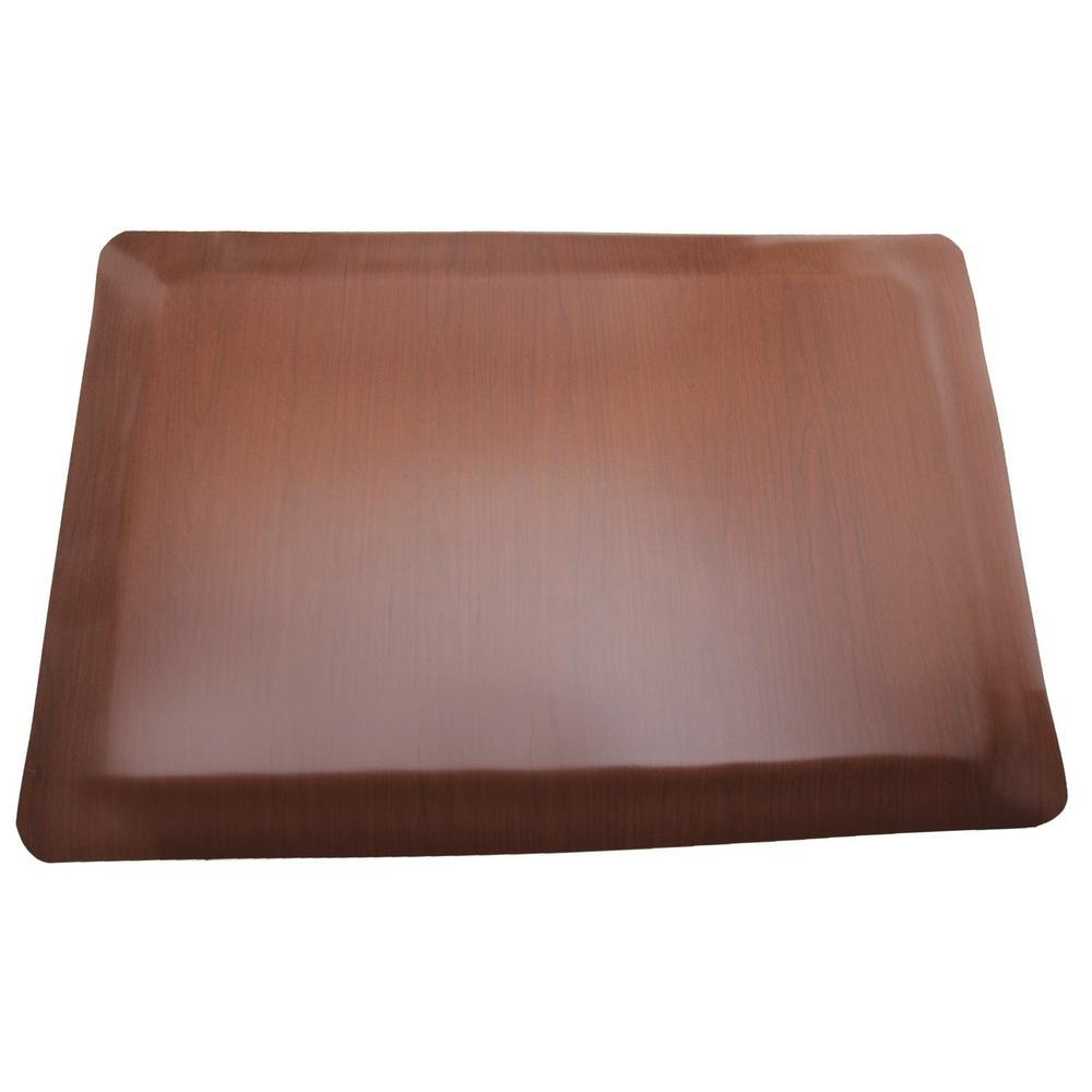 Soft Woods Walnut 36 in. x 60 in. Vinyl Indoor Anti Fatigue Floor Mat