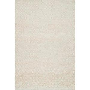 Hailey Farmhouse Solid Jute Off-White 9 ft. x 12 ft. Area Rug