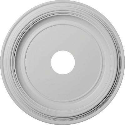 """1-1/2 in. P X 19 in. OD X 3-1/2 in. ID Traditional Thermoformed PVC Ceiling Medallion (Fits Canopies up to 11 1/2"""")"""