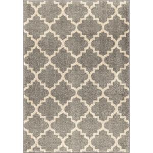 Orian Rugs Ginter Gray 7 ft. 10 inch x 10 ft. 10 inch Geometric Trellis Indoor Area Rug by Orian Rugs