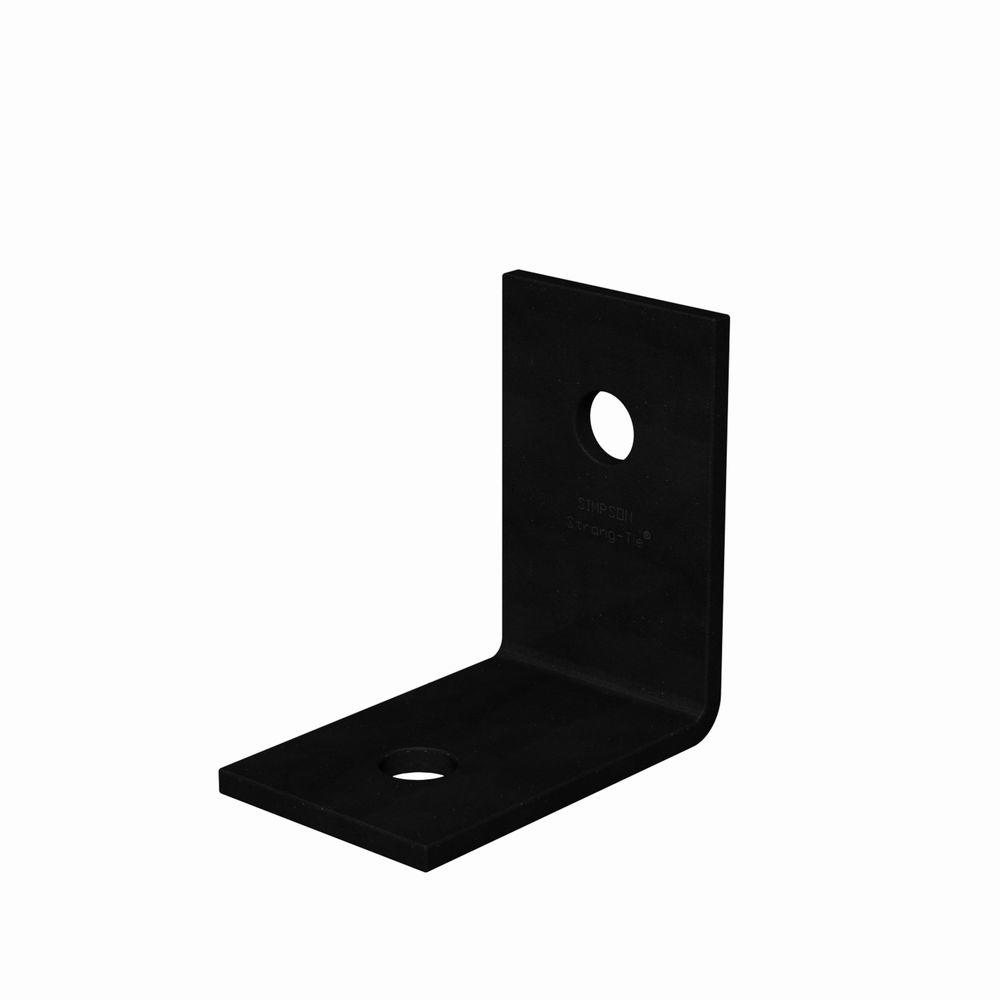 4 in. x 3 in. 3-Gauge Black Powder-Coat Heavy Angle