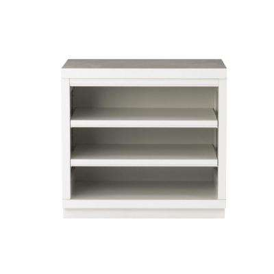 Mudroom 2-Shelf Wood Base Shelving Unit in Picket Fence