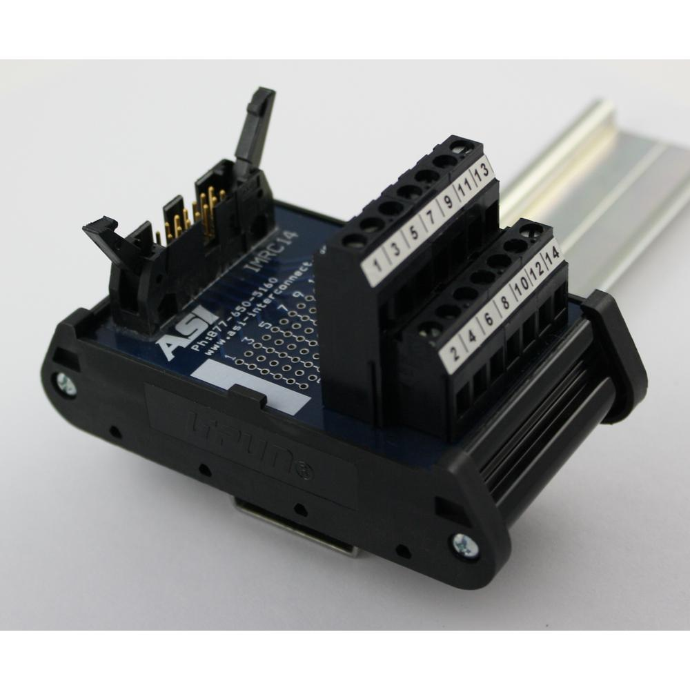 Automation Systems Interconnect IMRC14 Ribbon Cable Interface Module  14-Position Ribbon Cable to Screw Clamp Terminal Block
