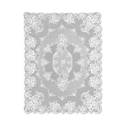 Victorian Rose Rectangle White Polyester Tablecloth