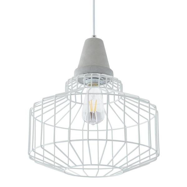 Xinna 3-Light White Cage Pendant (3-Piece Set)