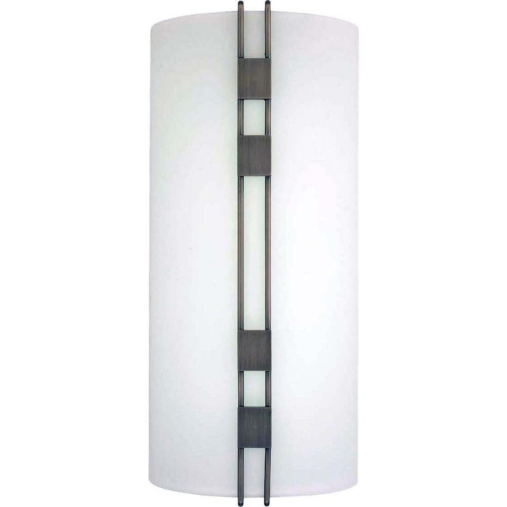 Black Interior Wall Sconces : Volume Lighting Architectural 1-Light Black Brushed Nickel Interior Wall Sconce-V6067-44 - The ...