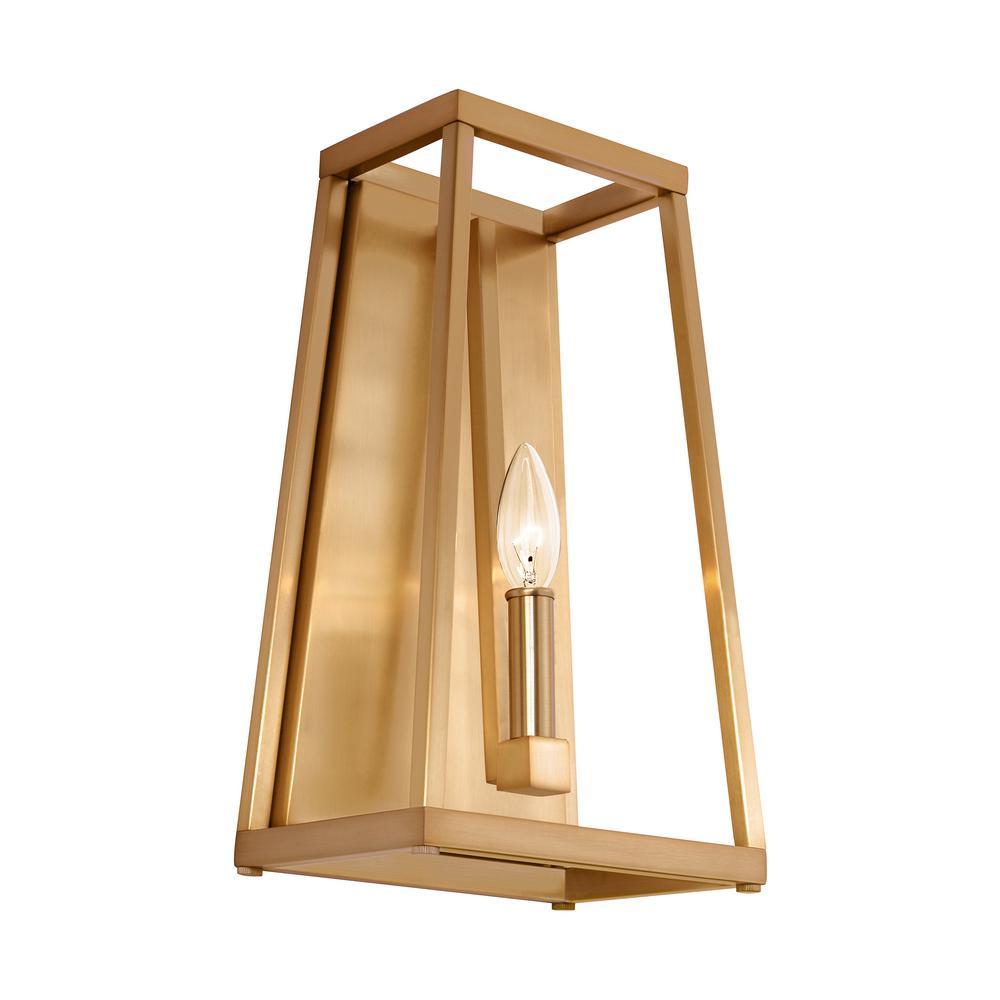 Conant 1-Light Gilded Satin Brass Wall Sconce