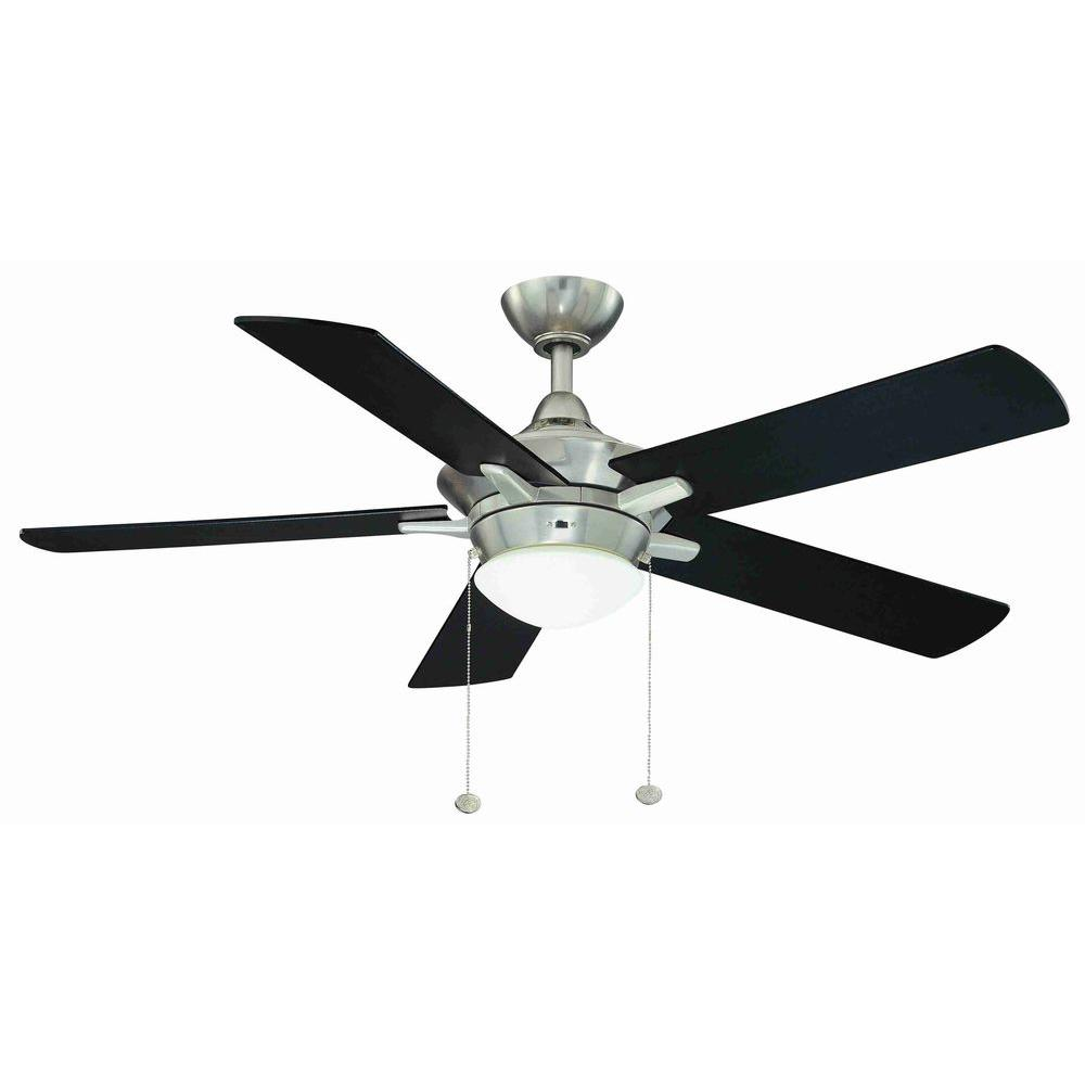 Home Decorators Collection Edgemont 52 In Led Indoor Brushed Nickel Ceiling Fan