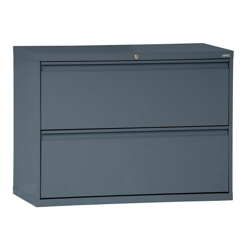 Sandusky 800 Series 28 in. H x 36 in. W x 19 in. D 2-Drawer Full ...