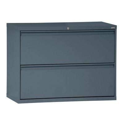 800 Series 28 in. H x 36 in. W x 19 in. D 2-Drawer Full Pull Lateral File Cabinet in Charcoal