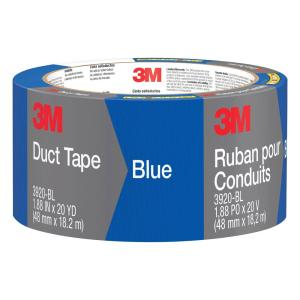 3M 1.88 inch x 20 yds. Blue Duct Tape (Case of 12) by 3M