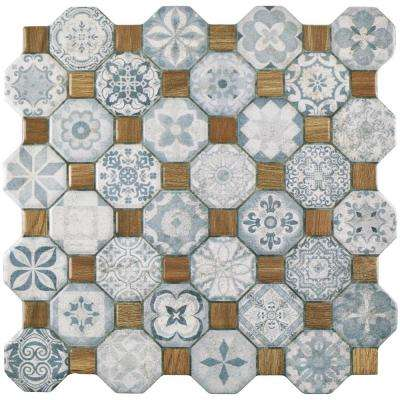 Tessera Blue 12-1/4 in. x 12-1/4 in. Ceramic Floor and Wall Tile (14.11 sq. ft. / case)
