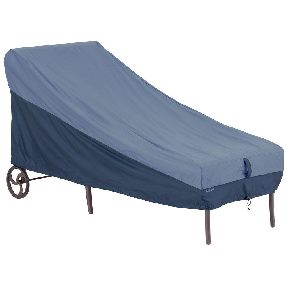 Classic Accessories Belltown Skyline Blue Patio Chaise Lounge Cover