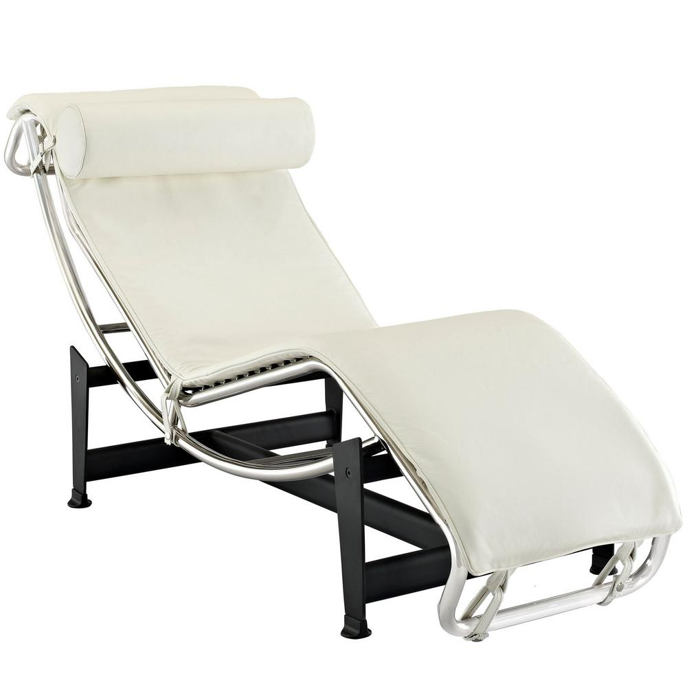 Charles White Leather Chaise Lounge