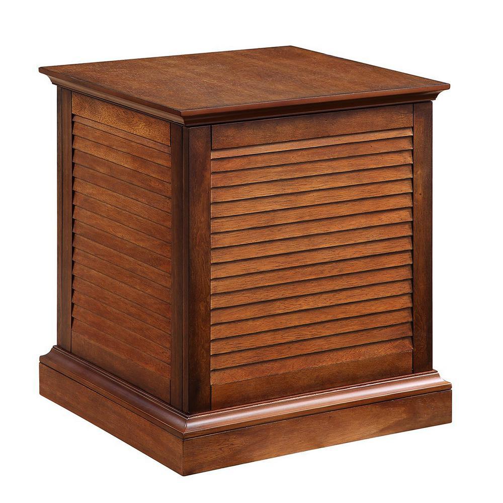 Wedlyn Oak Saddle Storage End Table