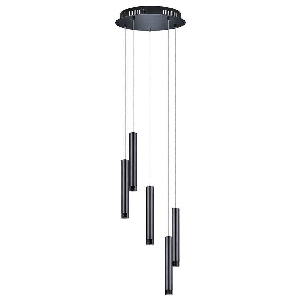 Eglo raparo 100 watt black chrome integrated led pendant 93926a eglo raparo 100 watt black chrome integrated led pendant aloadofball Image collections