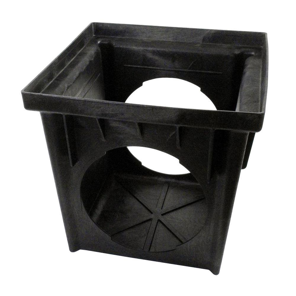 24 in. Square HDPE 2 Outlet Catch Basin