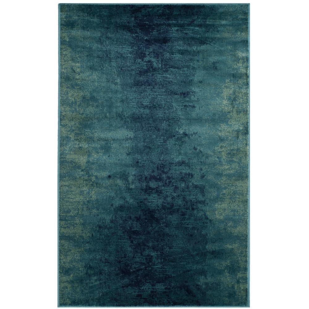 Vintage Turquoise/Multi 3 ft. x 6 ft. Area Rug