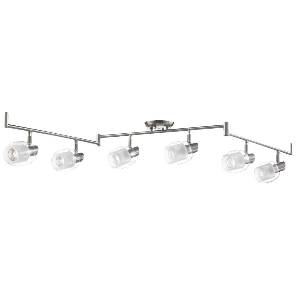 Beldi M Collection 6 Light Nickel Track Lighting Fixture