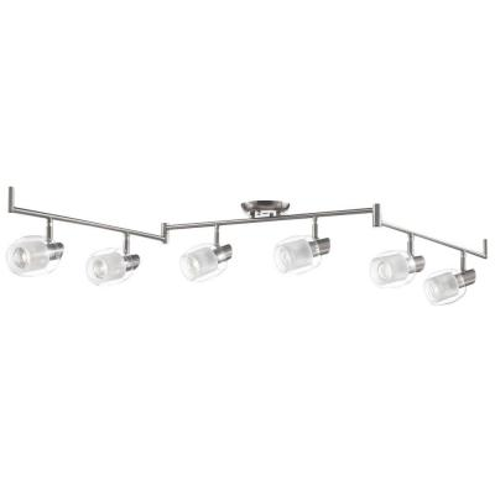 Salem Collection 6-Light Nickel Track Lighting Fixture