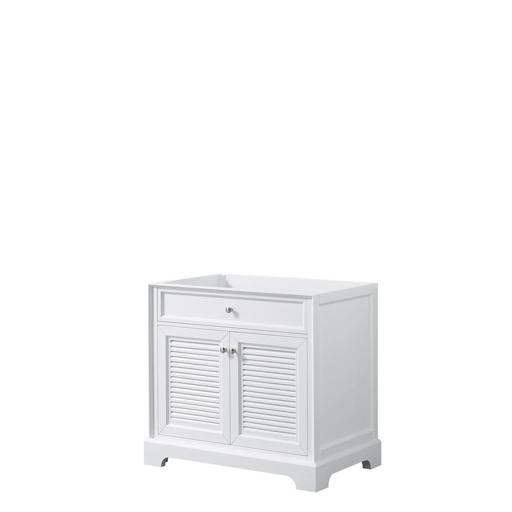 Tamara 36.5 in. Single Bathroom Vanity Cabinet Only in White