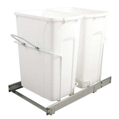 14.375 in. x 22 in. x 18.813 in. 35 Qt. In-Cabinet Double Soft-Close Bottom-Mount Pull-Out Trash Can