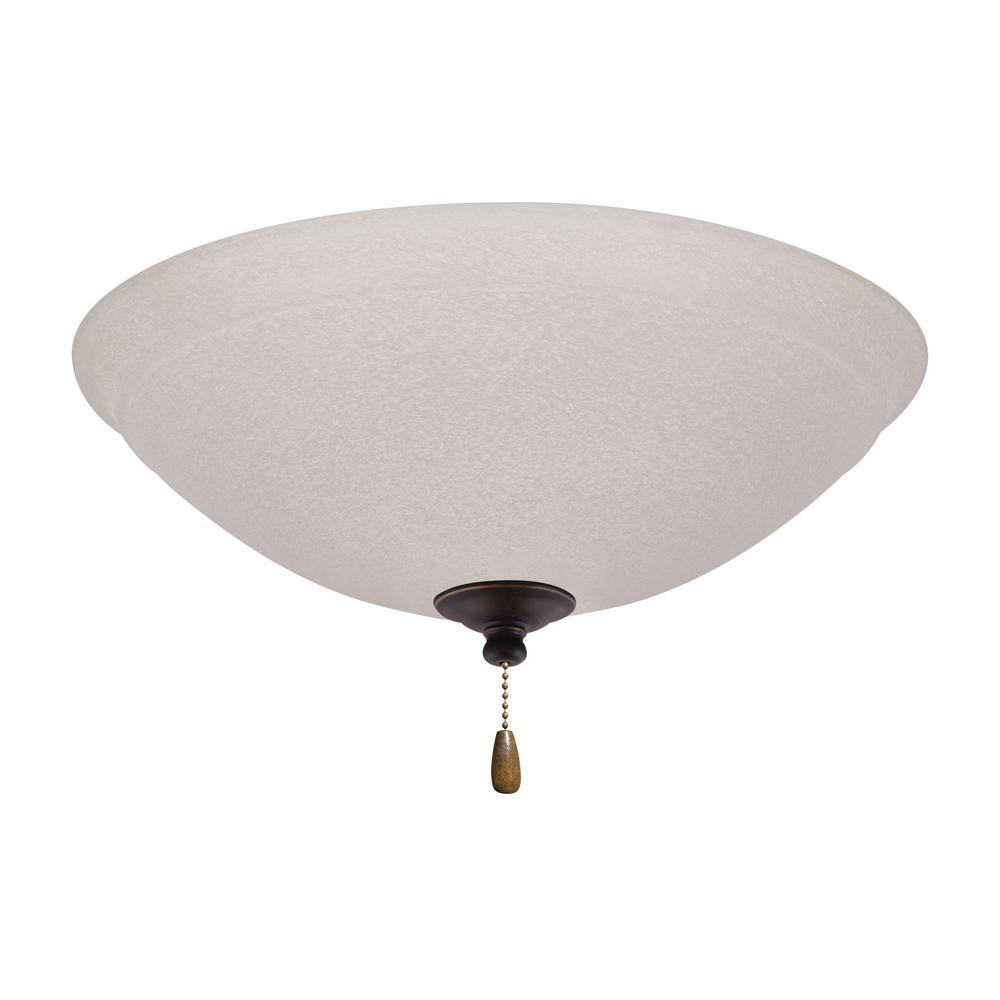 Ashton White Mist 3-Light Golden Espresso Ceiling Fan Light Kit