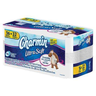 4.25 in. x 4 in. Ultra Soft Bath Tissue 2 Ply (164 Sheets per Roll 16 Roll)