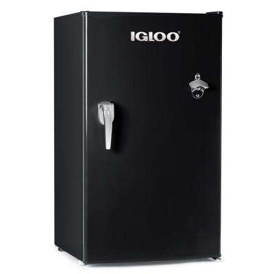 3.2 cu. ft. Classic Mini Refrigerator Freezer with Chrome Handle and Bottle Opener, Black