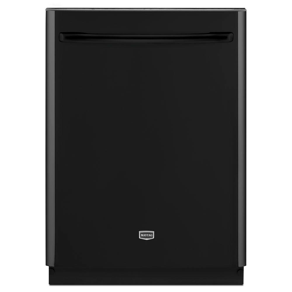 Maytag JetClean Plus Top Control Dishwasher in Black with Stainless Steel Tub and Steam Cleaning-DISCONTINUED