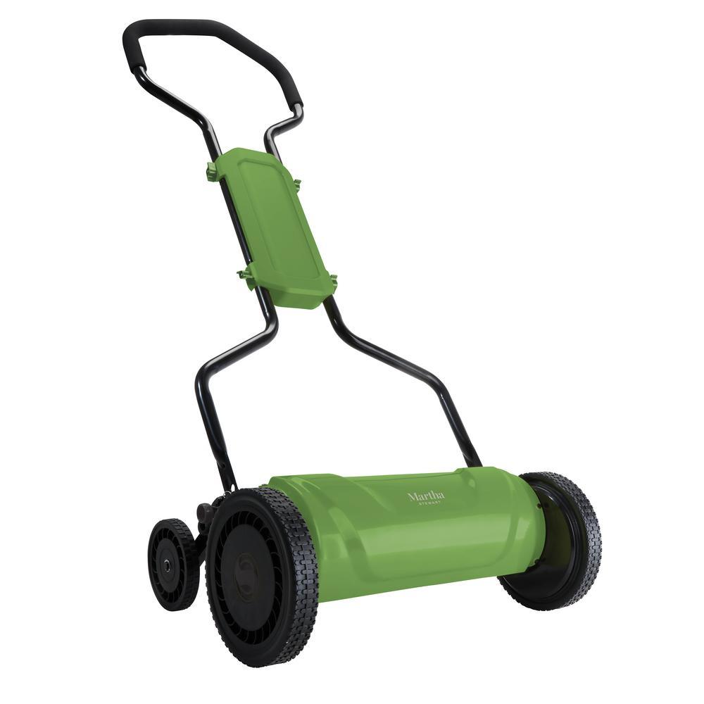 18 in. 5-Position Quad-Wheel Manual Walk Behind Push Reel Mower
