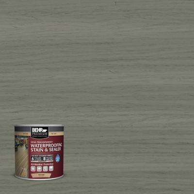 8 oz. #ST-137 Drift Gray Semi-Transparent Waterproofing Exterior Wood Stain and Sealer Sample