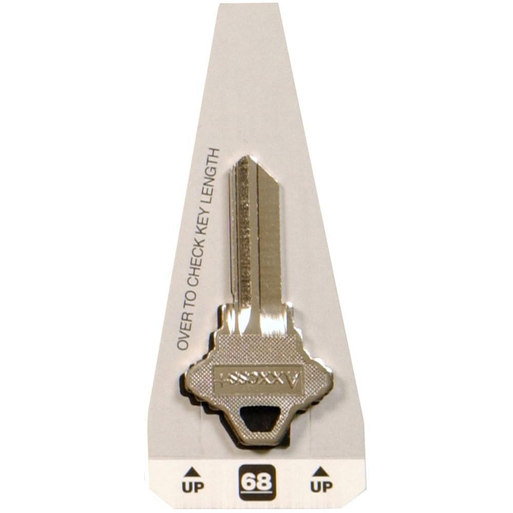 #68 Schlage Blank Lock Key