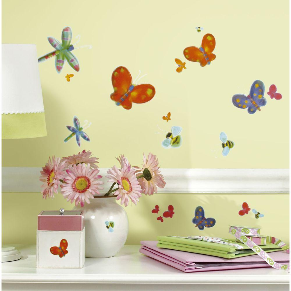 5 in. x 11.5 in. Jelly Bugs Peel and Stick Wall