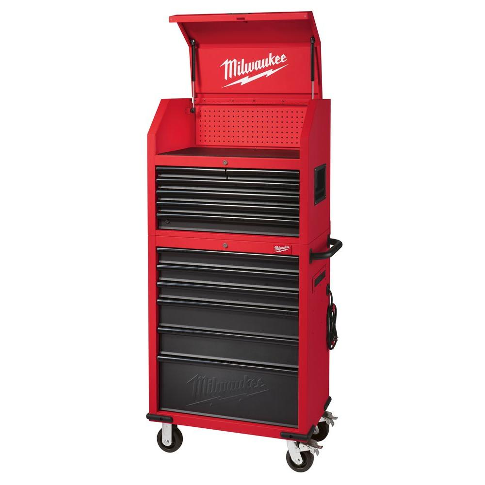 12 Drawer Steel Tool Storage Chest And Rolling Cabinet Set