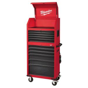 30 In. 12 Drawer Steel Tool Storage Chest And Rolling Cabinet Set, Textured