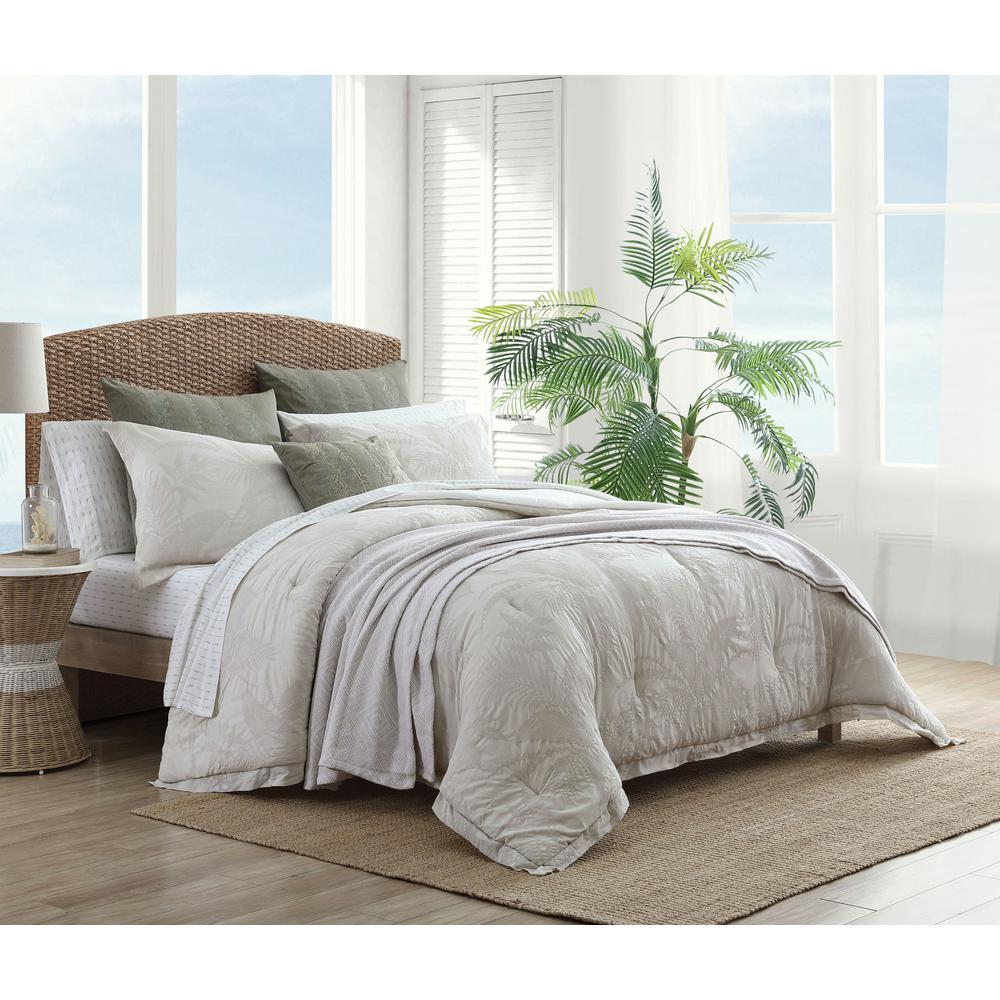 Abalone 3-Piece Grey Cotton King Comforter/Sham Set