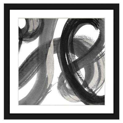 22 in. x 22 in. Black and White abstract I Framed Archival Paper Wall Art